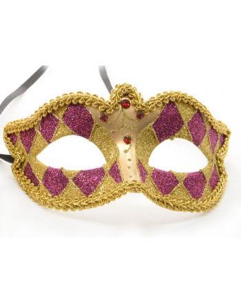 Venetian Harlequin mask gold / purple
