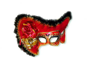 Venezianische Lady-Piraten-Maske rot
