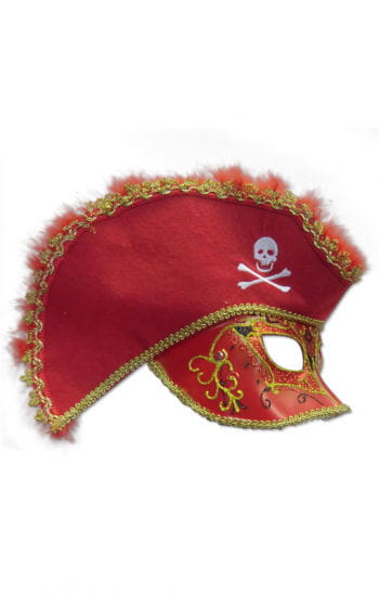 Venetian mask red pirates