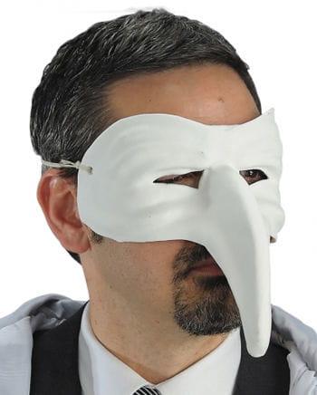 Venezianische Schnabelmaske weiß