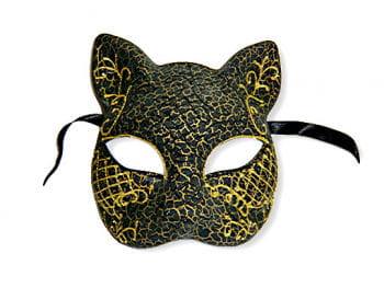 Venezianische Katzenmaske gold