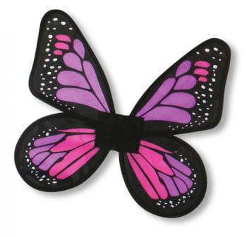 Satin purple butterfly wings
