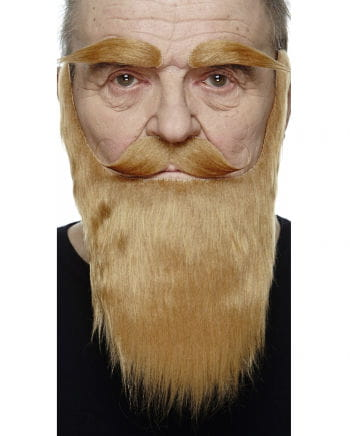 Beard with mustache and eyebrows strawberry blonde