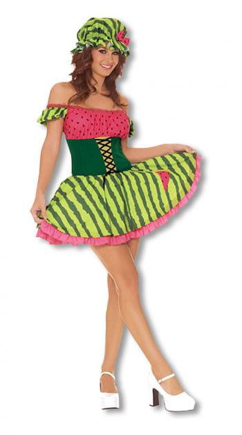 Wassermelonen Girl Kostüm Small