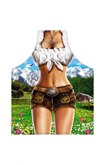 Weibliche Alpen Model Schürze