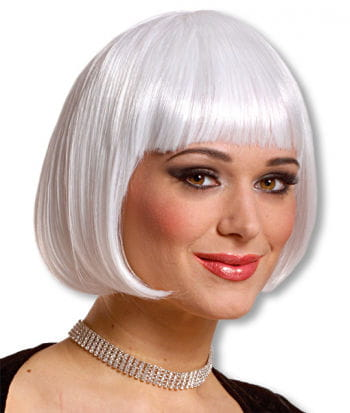 White Pageboy Cut Wig