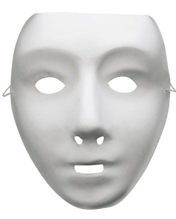 Weiße Roboter Maske