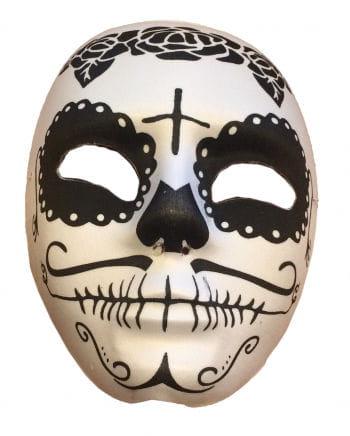 Sugar Skull Maske Schwarz/Weiß