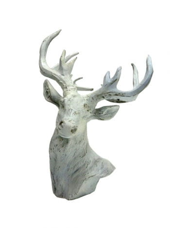 Weißer Hirsch Weihnachts Dekofigur