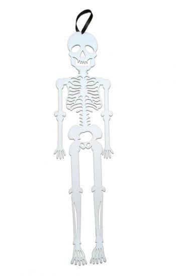 Hänge-Skelett aus Filz weiß