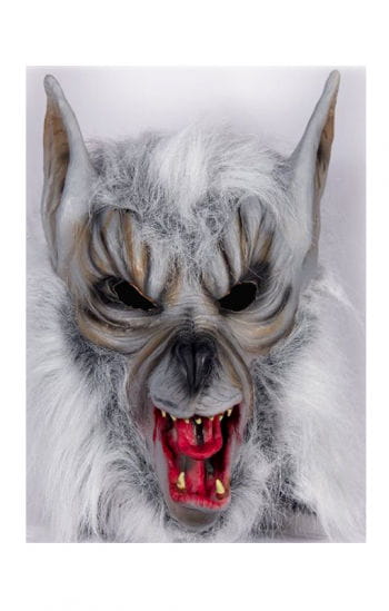 Werewolf mask with fur