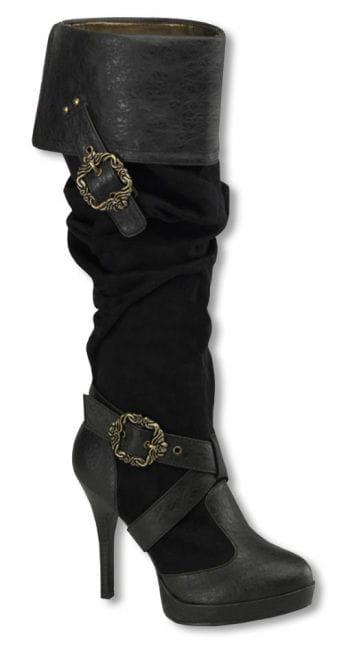 Piraten Stiefel mit Schnallen