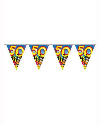 Wimpelkette Swirls 50 Jahre