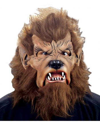 Wolfman mask with artificial fur
