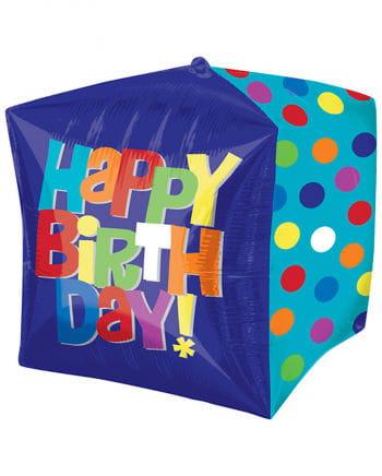Würfelballon Happy Birthday