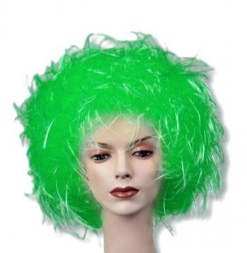 Wuschel Perücke grün