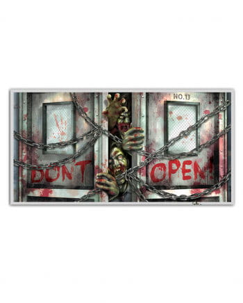 """Zombie Banner """"Don't Open"""""""