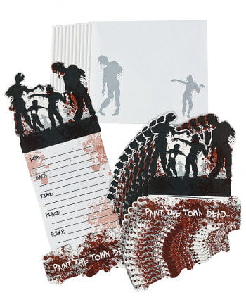 Zombie invitation cards
