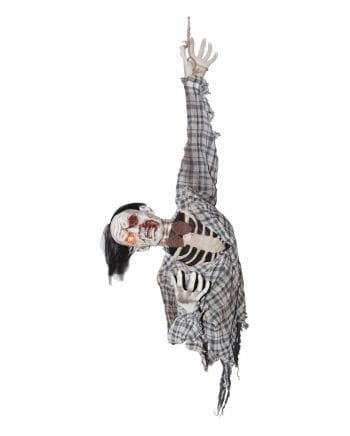 Zombie Ghoul Hängefigur mit Bewegung & Sound