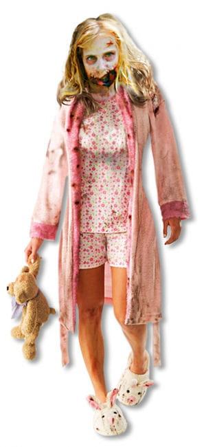 Zombie Girl Kinderkostüm M M