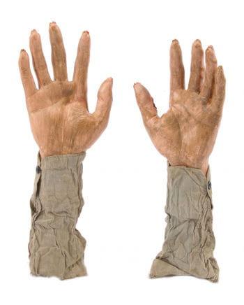 Zombie Hände als Gartenstecker