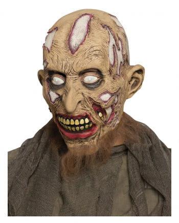 Zombie Maske mit Bart