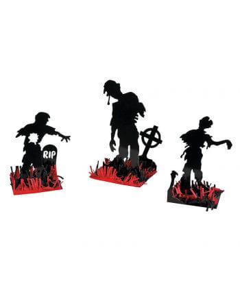Zombie Tisch Dekoration 3-teilig