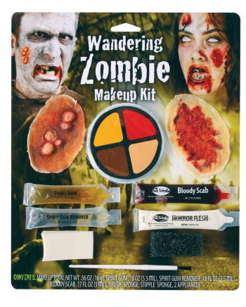 Zombie Wunden Make-up Kit 10-teilig
