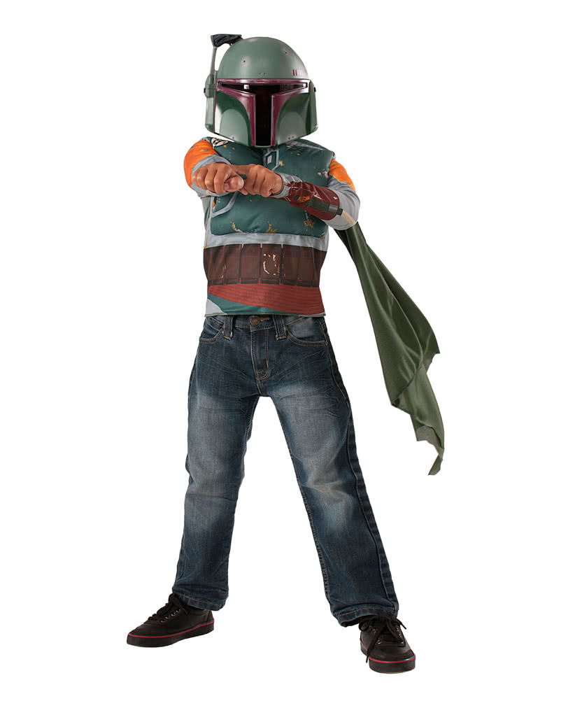 boba fett kost m set f r kinder star wars kopfgeldj ger kost m horror. Black Bedroom Furniture Sets. Home Design Ideas