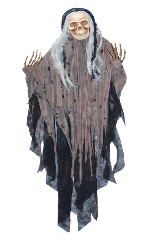 hanging reaper braun halloween fetzenskelett als. Black Bedroom Furniture Sets. Home Design Ideas