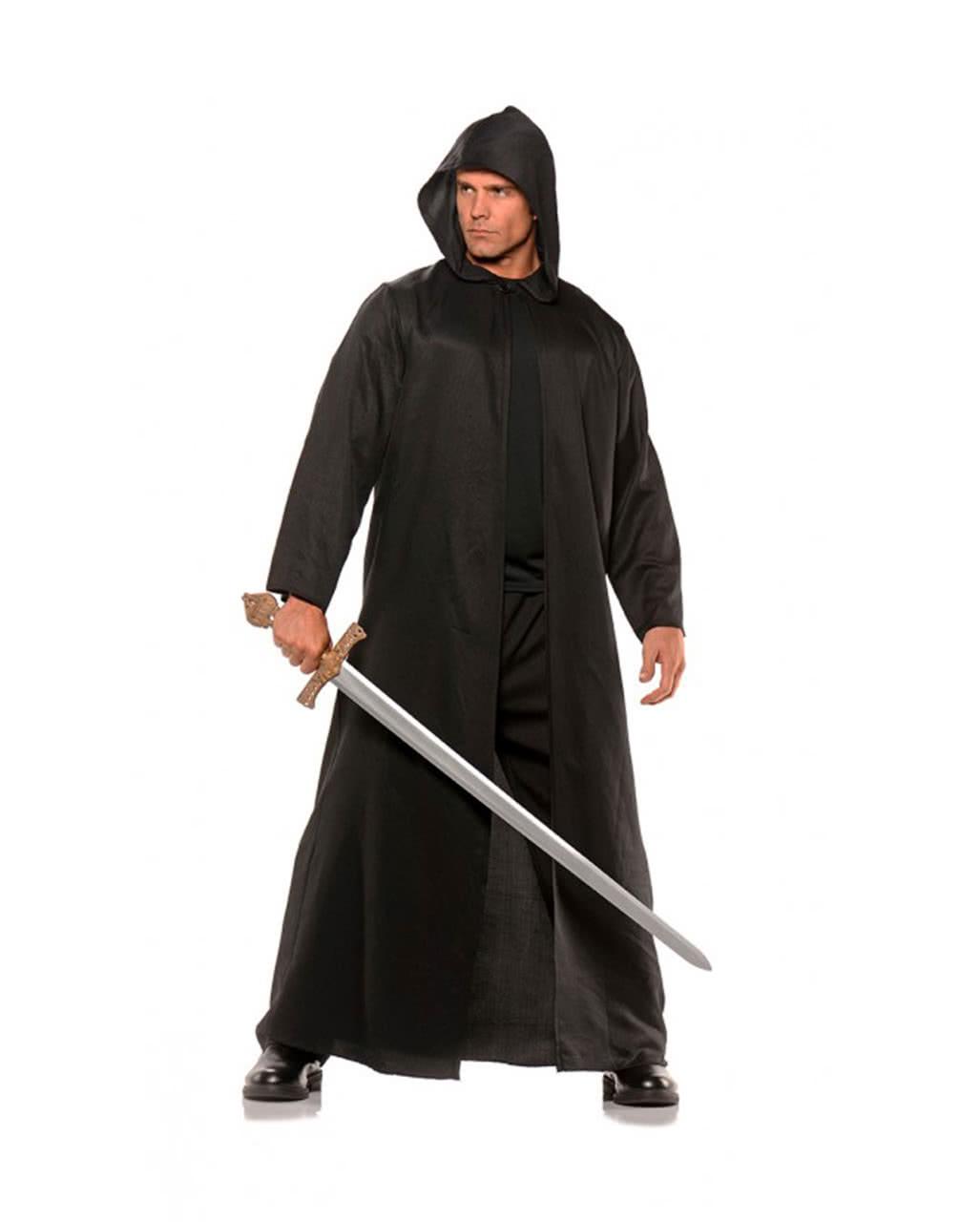schwarzer kost m mantel mit kapuze f r halloween und larp. Black Bedroom Furniture Sets. Home Design Ideas