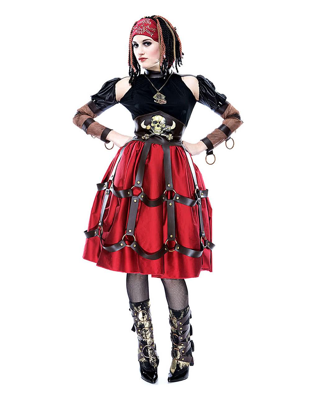 steampunk piraten maid kost m m f r halloween horror. Black Bedroom Furniture Sets. Home Design Ideas