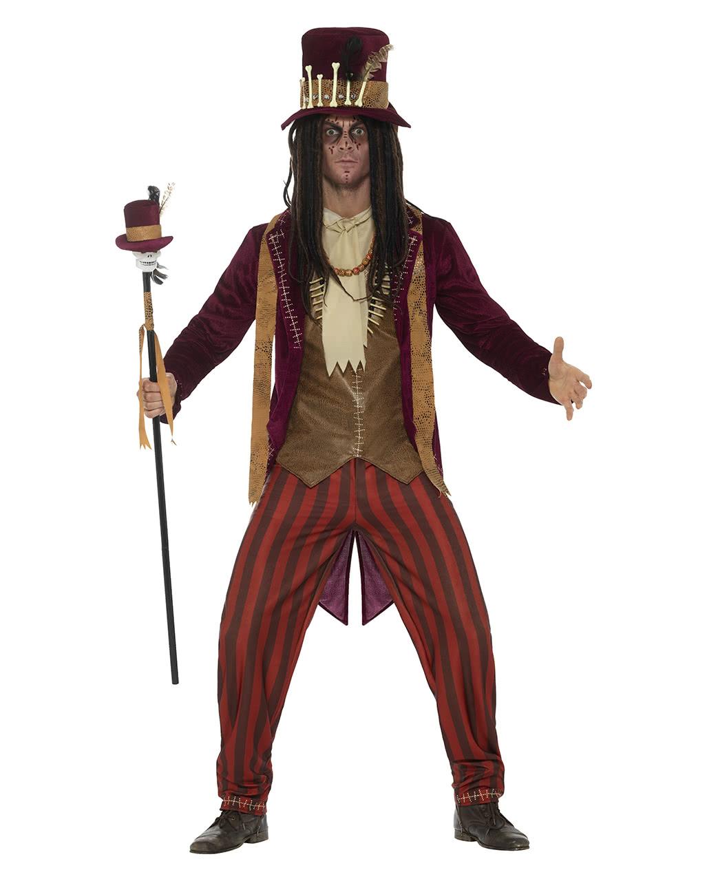 voodoo witch doctor costume deluxe for halloween horror. Black Bedroom Furniture Sets. Home Design Ideas