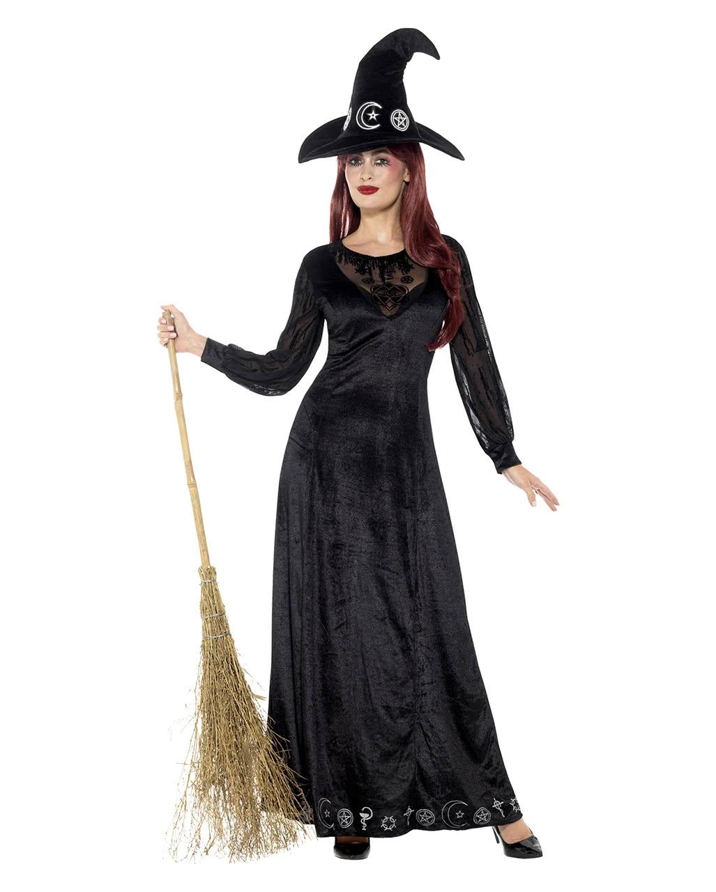 witch damenkost m deluxe hexenkost m mit hut horror. Black Bedroom Furniture Sets. Home Design Ideas