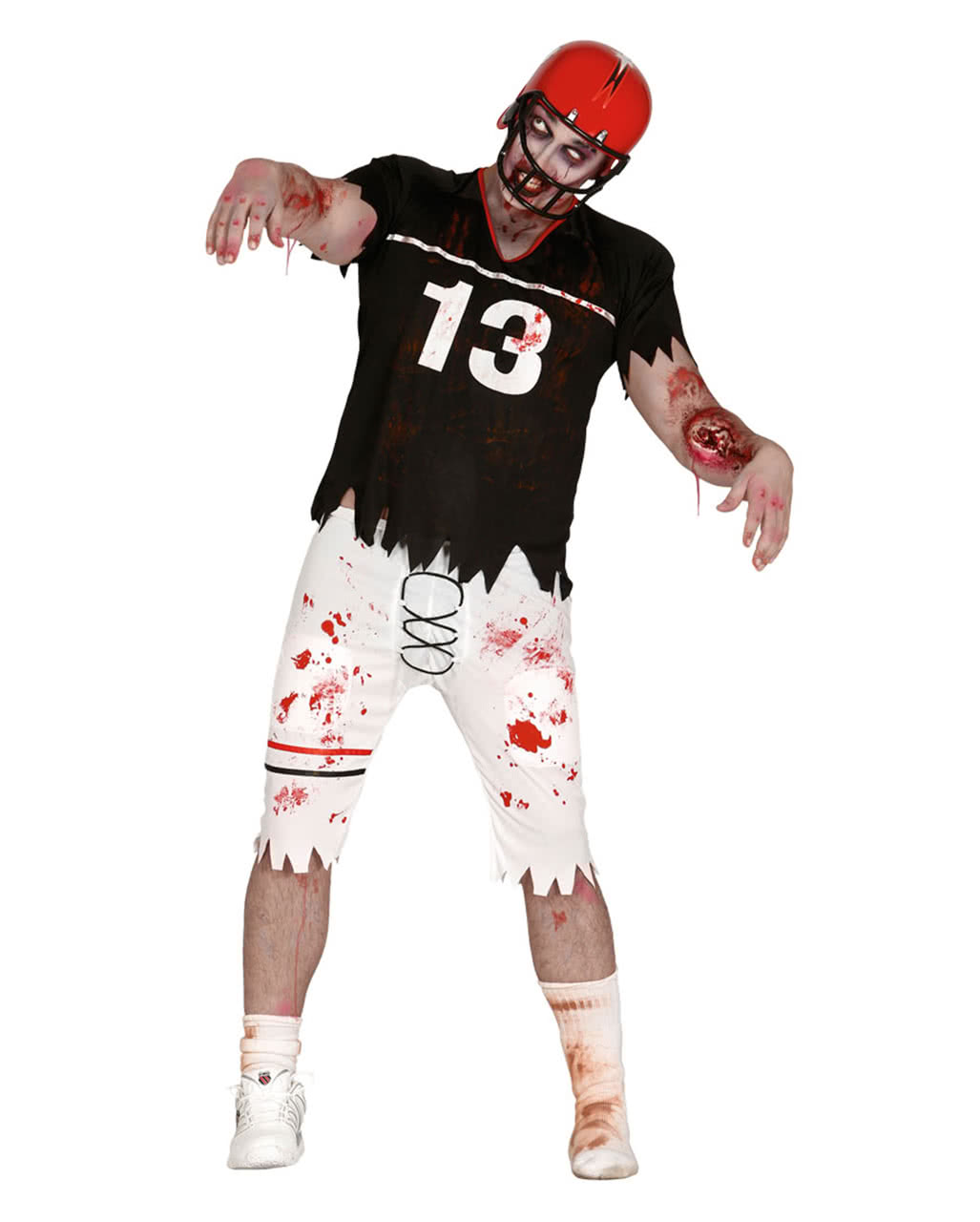 zombie football spieler kost m amerikanischer sport walker horror. Black Bedroom Furniture Sets. Home Design Ideas