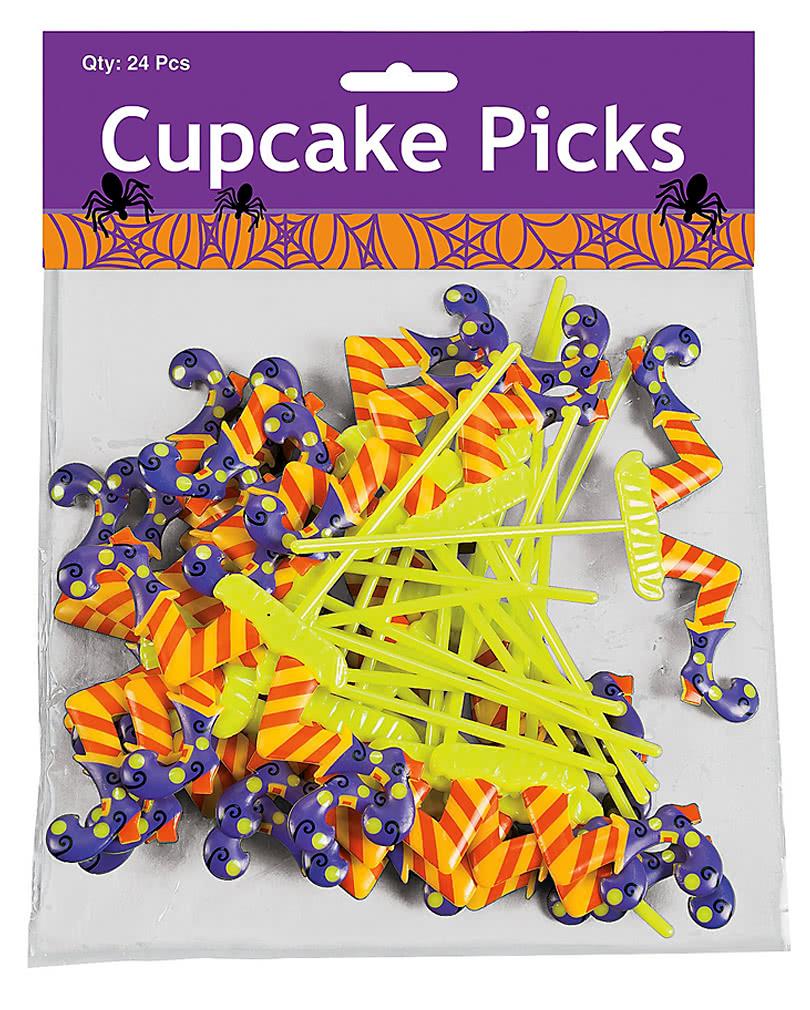 bunte cupcake picker f r die halloween tischdekoration. Black Bedroom Furniture Sets. Home Design Ideas