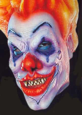 Evil Clown Schaumlatexmaske Foam Latexmaske Zum Aufkleben