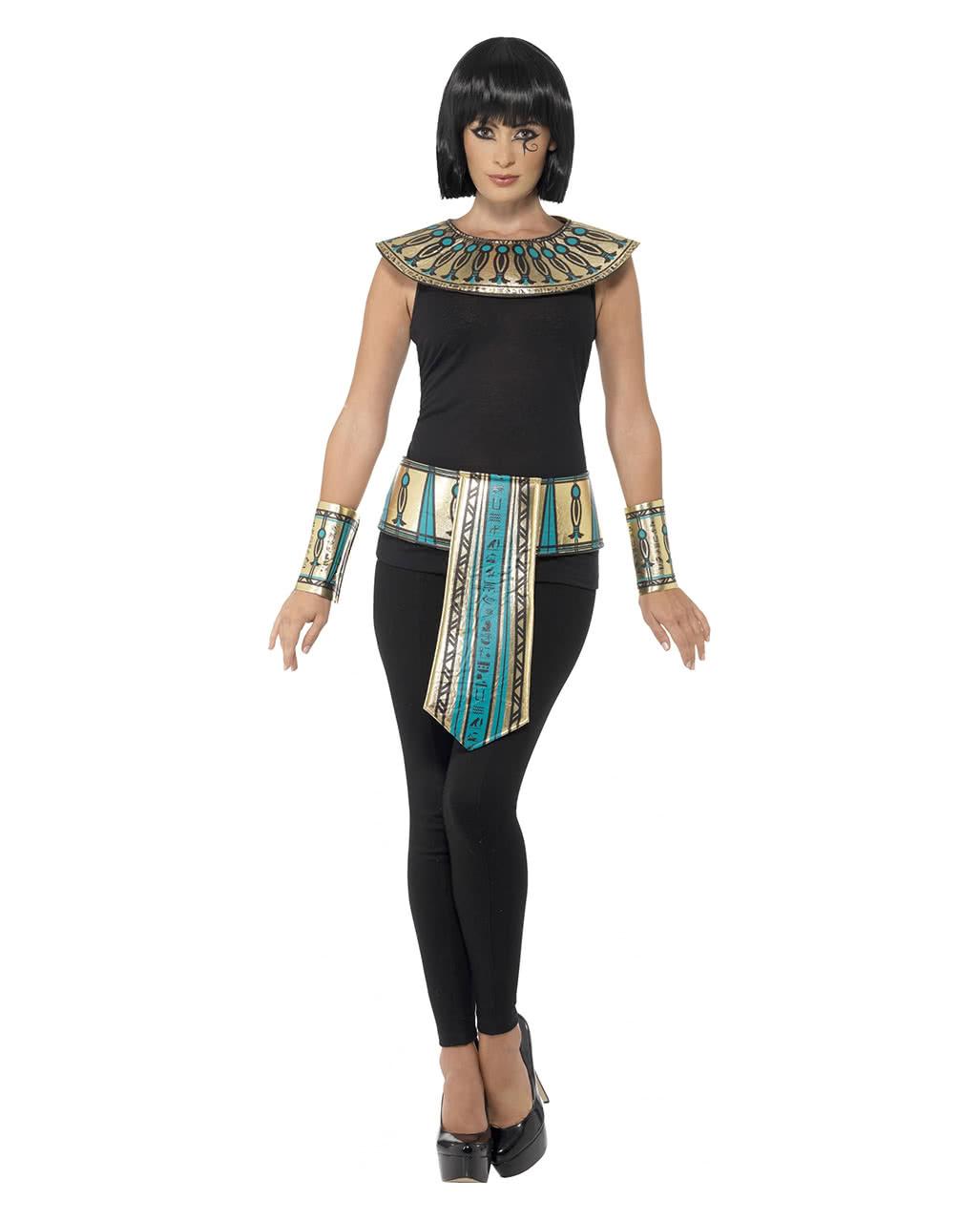 Agyptisches Kostum Set 4 Teilig Kleopatra Verkleidungs Zubehor