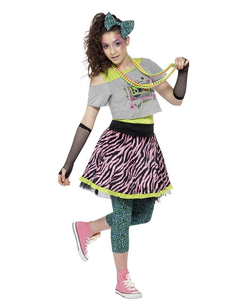 Bad Taste 80s Damen Kostum Set 80er Jahre Verkleidung Karneval