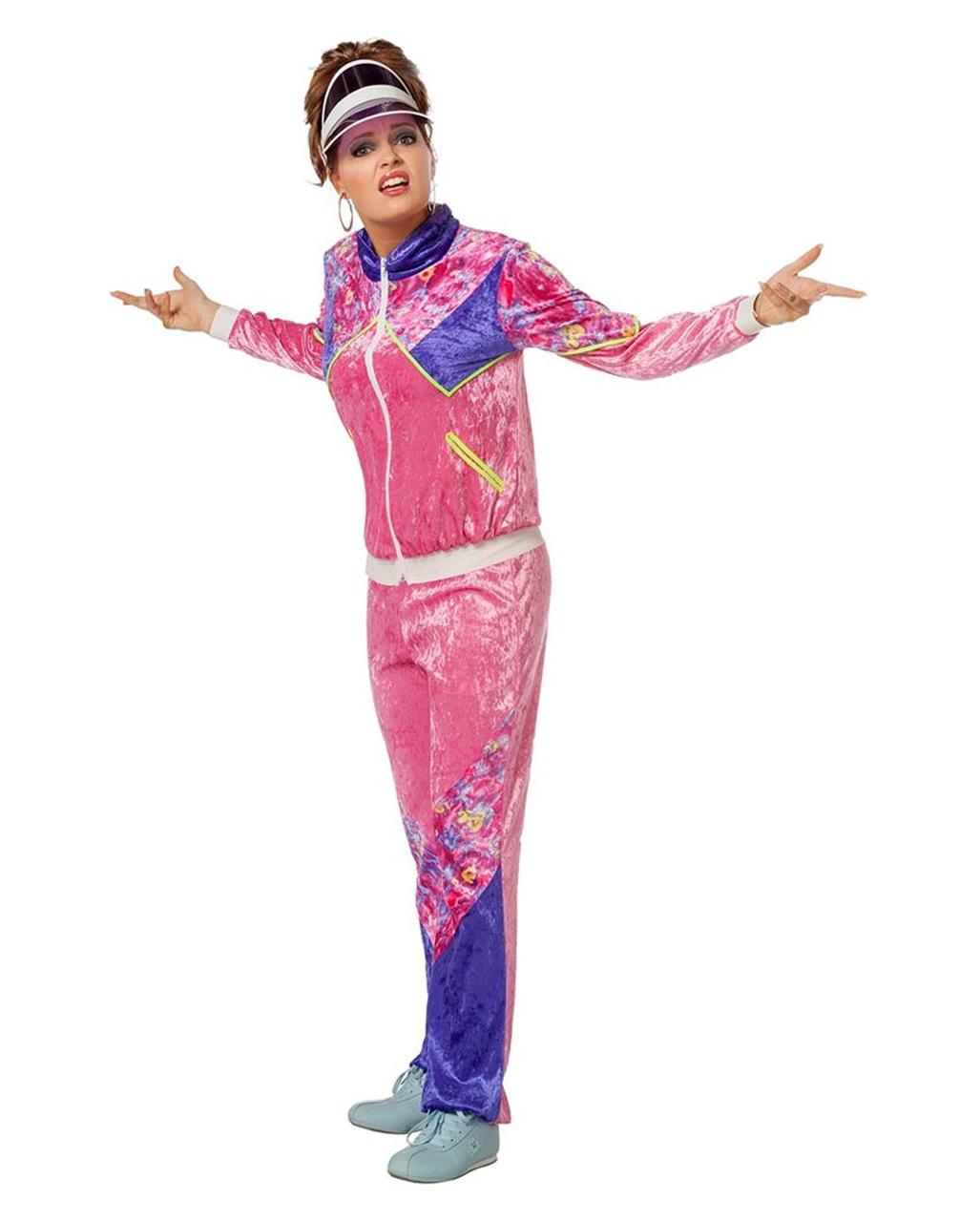 80er Damen Kostum Trainingsanzug Als 80s Kostum Karneval Universe