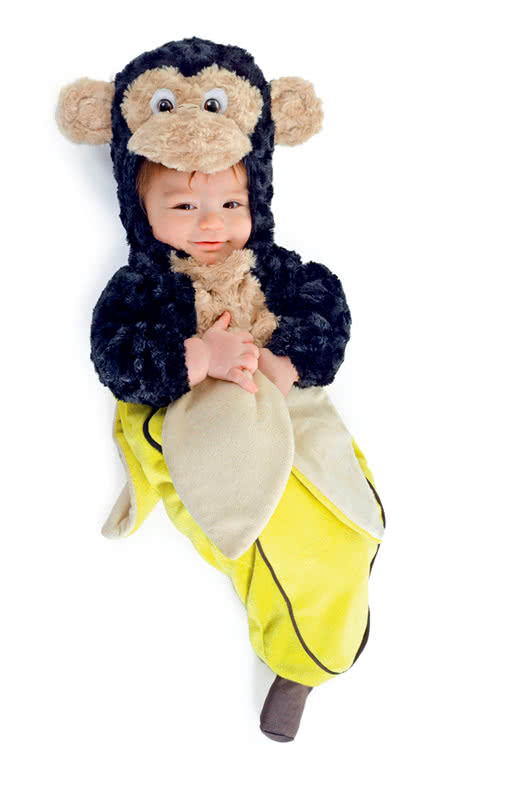 Baby Monkey In Banana Peel Kuschliges Costume For Babies