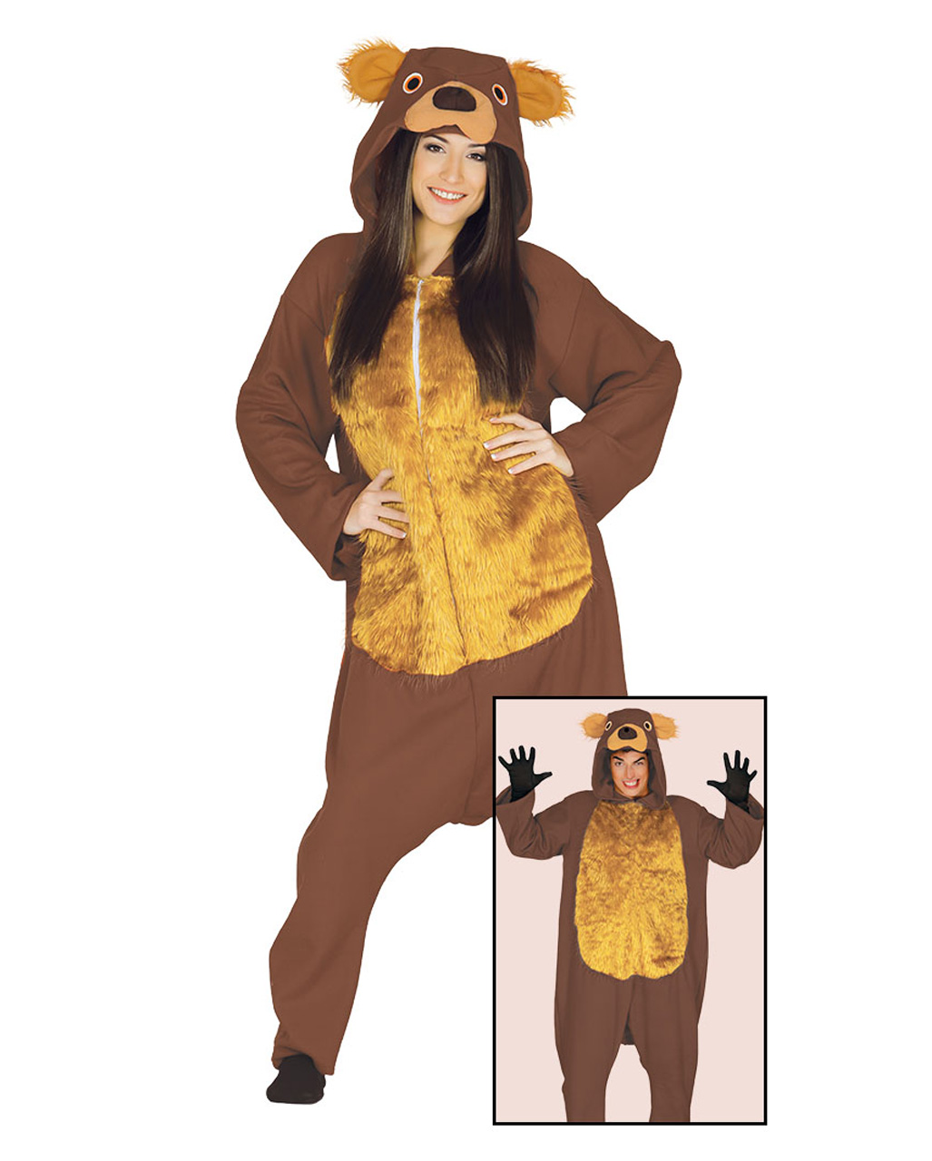 Bear Costume Jumpsuit As Animal Costume Karneval Universe
