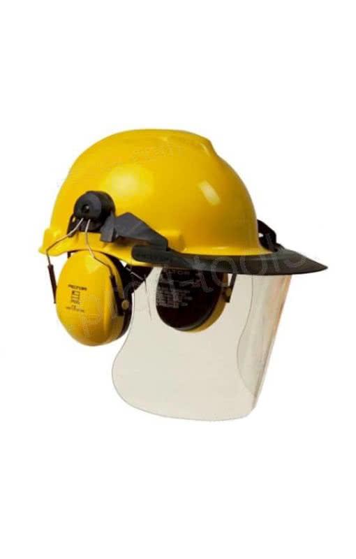 Bauarbeiterhelm Gelb Mit Larmschutz Gelber Schutzhelm Karneval