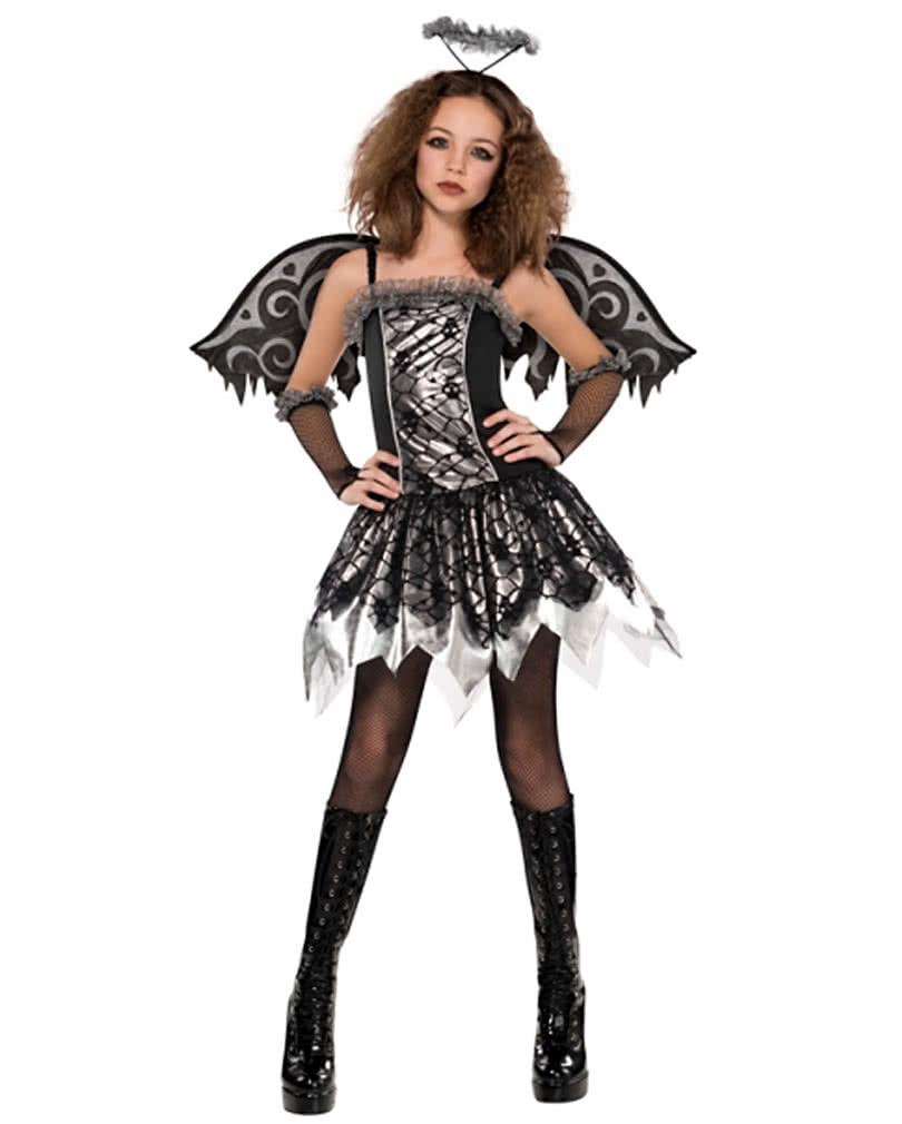 Schwarzer Engel Kostum Fallen Angel Madchenkleid Karneval Universe