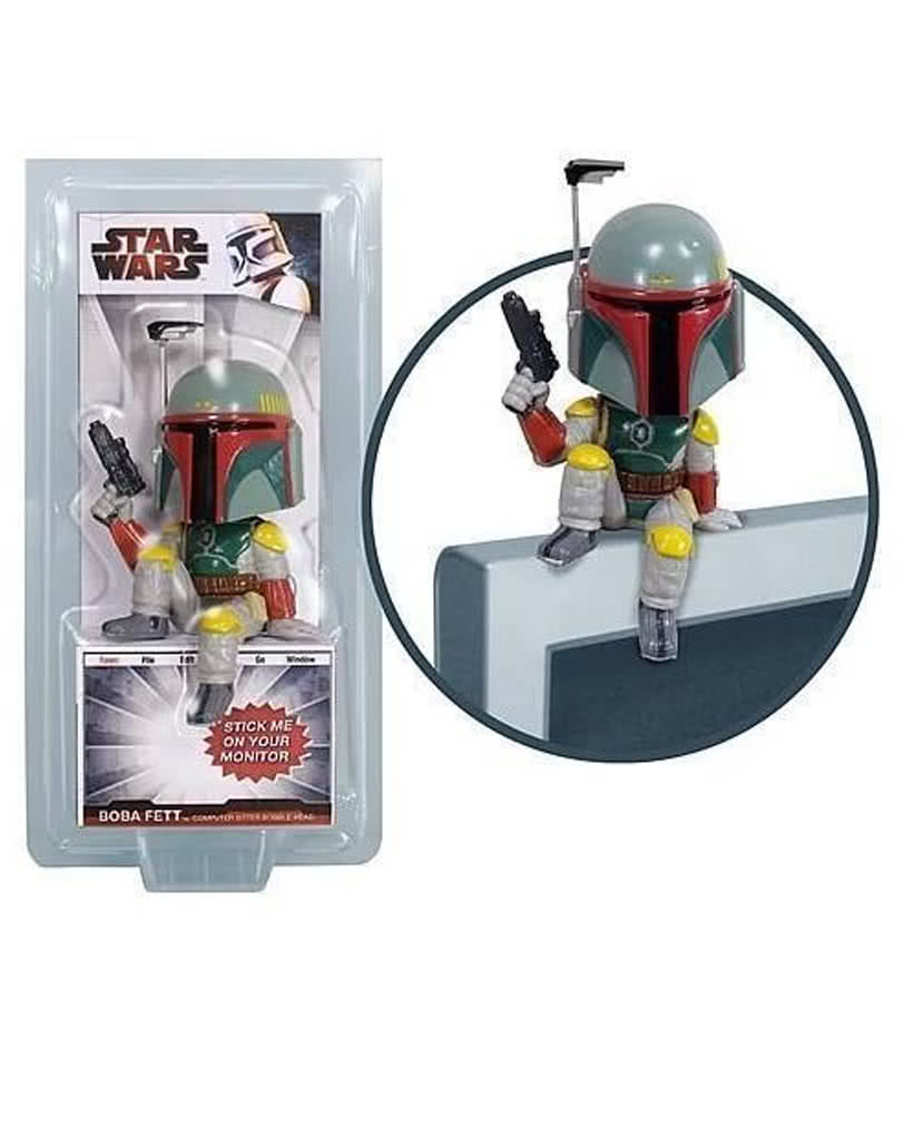 boba fett computer sitter | star wars merchandise for the office