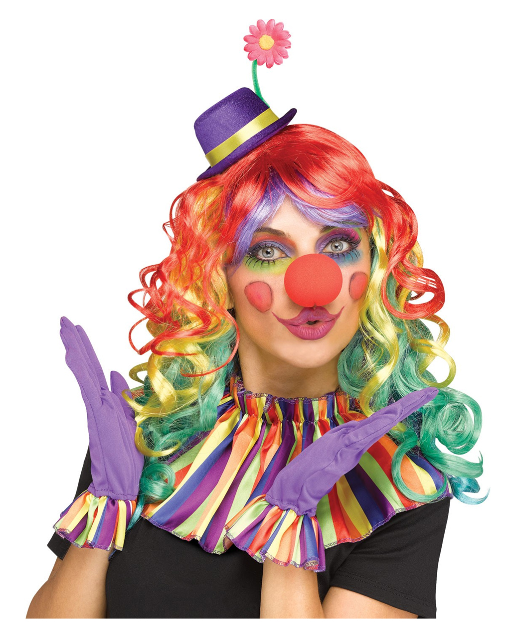 Colorful Clown Accessories Set For Carnival Karneval Universe