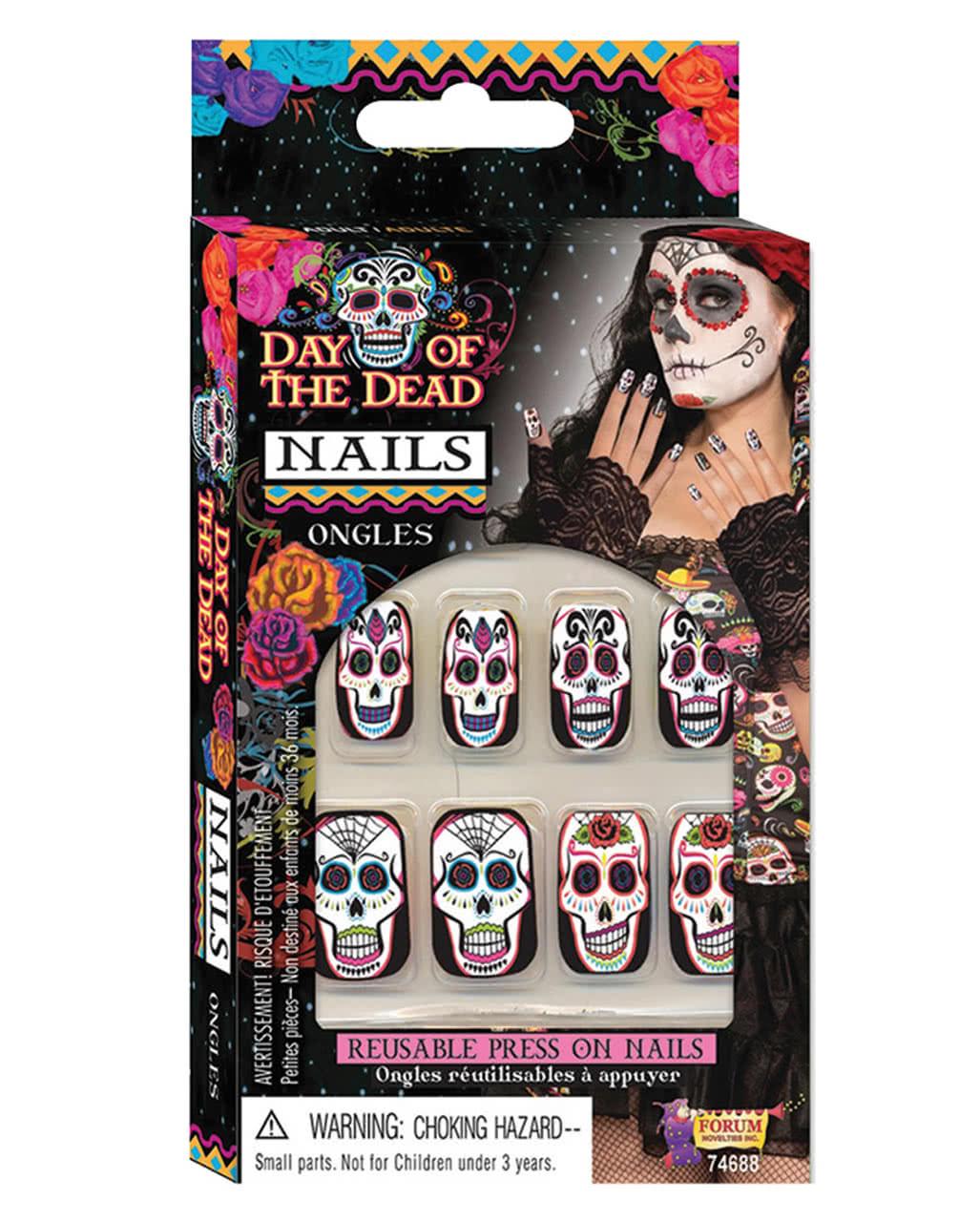Sugar Skull Fingernägel | Day of the Dead Nails | Karneval Universe