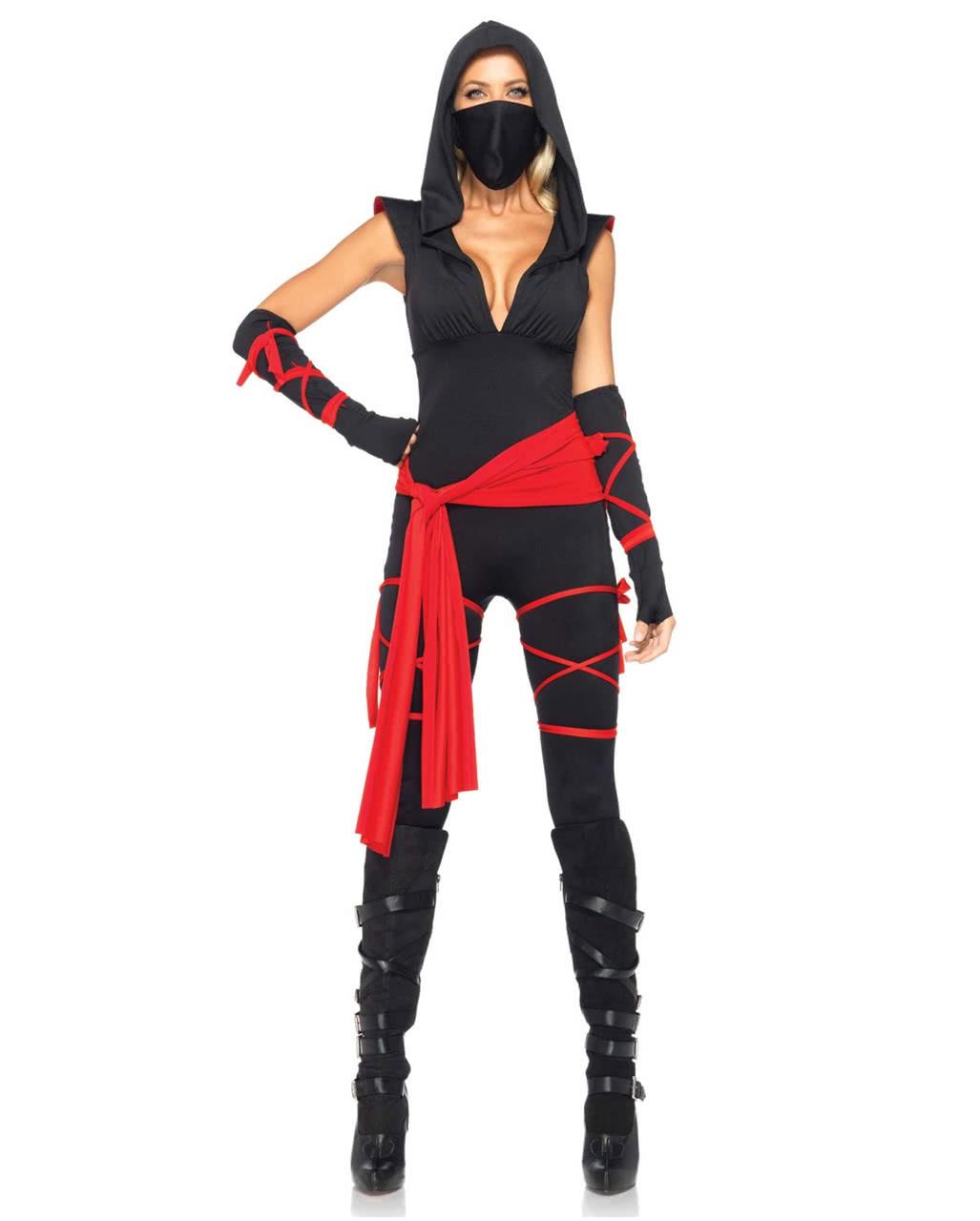 Sexy Ninja Kostum Fur Damen Deluxe Online Bestellen Karneval