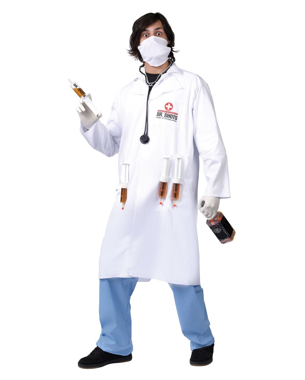 Dr Shots Arzt Kostum Weisser Doktor Kittel Als Party Kostum
