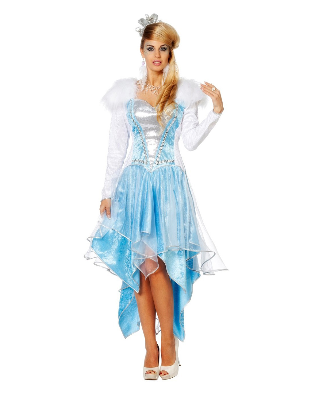 Frauen Kostum Eiskonigin Fur Fasching Kaufen Karneval Universe